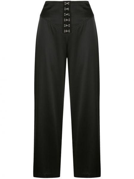 Свободные брюки с карманами черные Fleur Du Mal