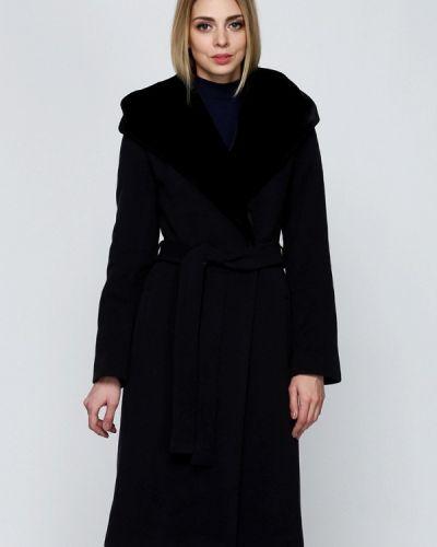 Черное пальто с капюшоном Florens