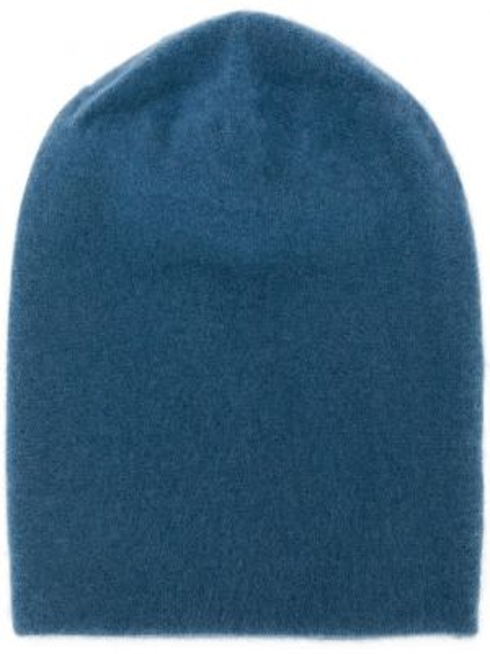 Кашемировая синяя тонкая шапка бини Frenckenberger