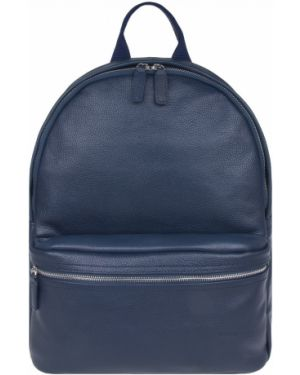 Кожаный рюкзак для ноутбука с карманами на молнии Franchesco Mariscotti