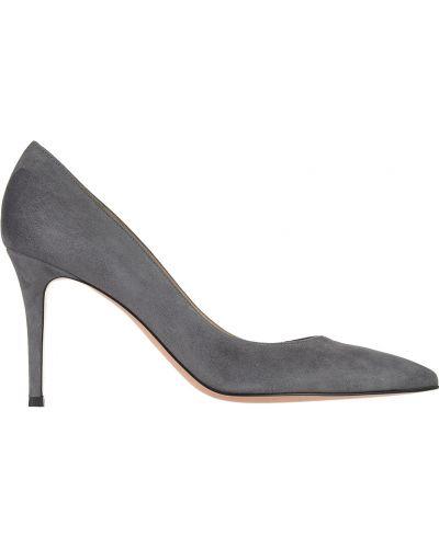 Кожаные туфли - серые Gianvito Rossi