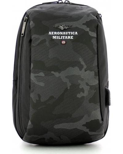 Czarny plecak Aeronautica Militare