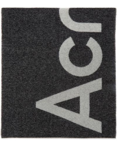 Черный шерстяной шарф прямоугольный Acne Studios