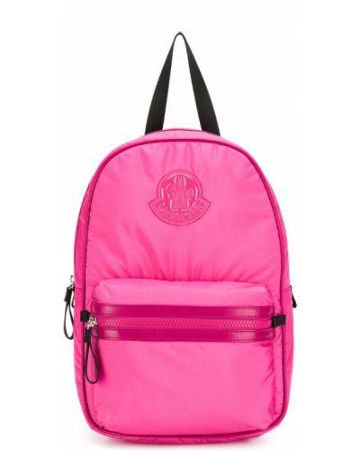 Рюкзак металлический розовый Moncler Kids