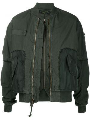 Zielona długa kurtka pikowana bawełniana Mr And Mrs Italy