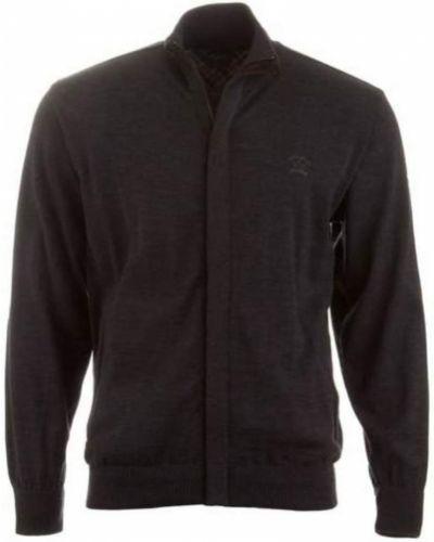 Sweter z haftem z kieszeniami z zamkiem błyskawicznym Paul & Shark