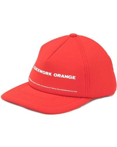 Pomarańczowa czapka z printem Undercover