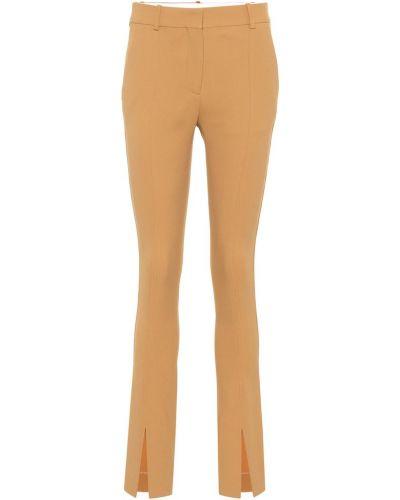 Свободные брюки расклешенные кожаные Victoria Beckham