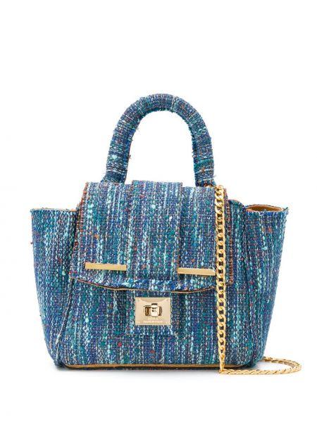 Синяя текстильная сумка на цепочке Alila