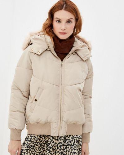 Бежевая утепленная куртка Adrixx