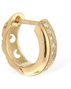 Białe złote kolczyki ze złota z diamentem Marco Dal Maso
