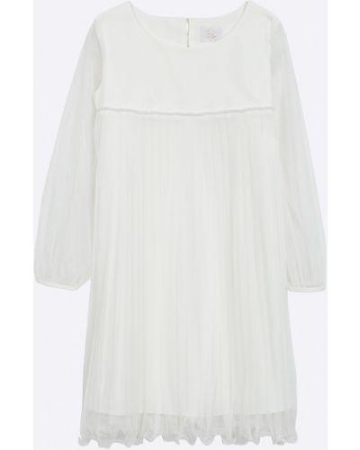 Платье с рукавами однотонное плиссированное Sly