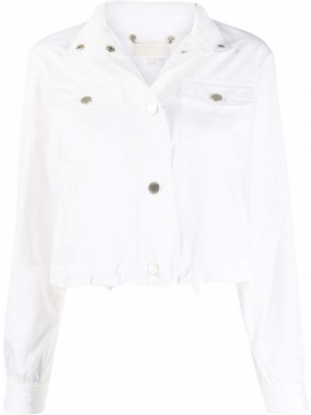 Белая джинсовая куртка с воротником с карманами Michael Michael Kors