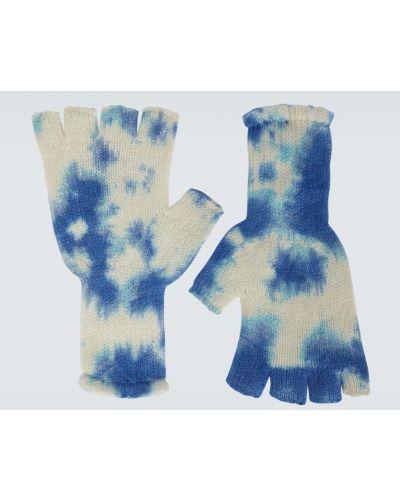 Z kaszmiru rękawiczki - niebieskie The Elder Statesman