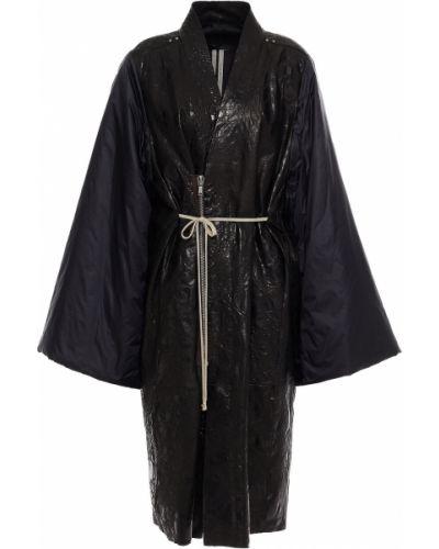 Płaszcz skórzany - czarny Rick Owens