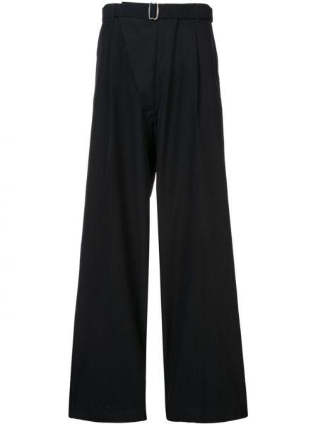 Черные деловые брюки со стразами Mackintosh 0002