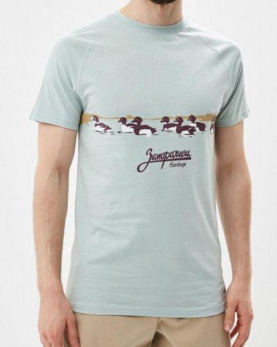 Бирюзовая футболка Запорожец Heritage
