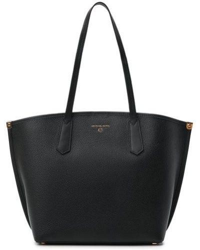 Кожаная сумка шоппер - черная Michael Michael Kors
