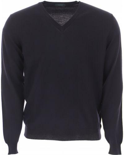 Bawełna bawełna sweter z długimi rękawami Zanone