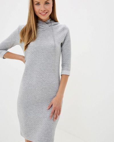 Платье серое платье-толстовка Pavesa