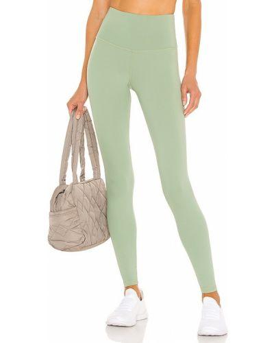 Зеленые текстильные с завышенной талией палаццо Strut-this