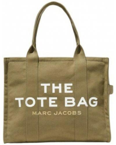 Torebka bawełniana - brązowa Marc Jacobs