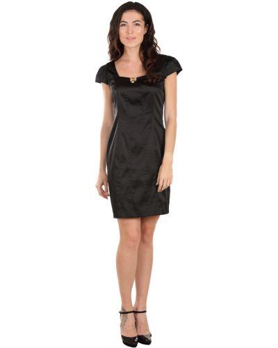 Черное платье из вискозы с бабочкой Roccobarocco
