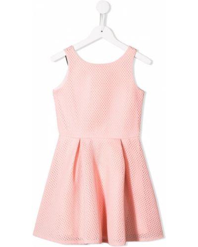 Розовое платье с рукавами с перфорацией David Charles Kids