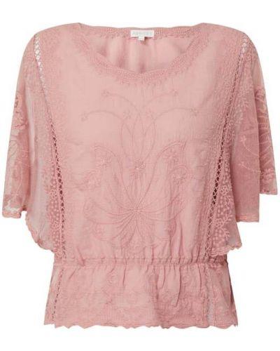 Różowa bluzka bawełniana krótki rękaw Apricot