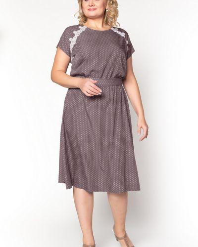 Платье из вискозы - бежевое Virgi Style