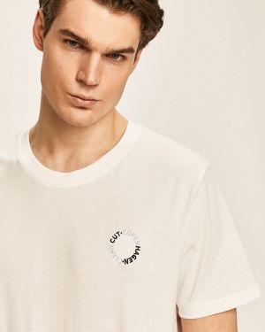 Biały t-shirt bawełniany Clean Cut Copenhagen