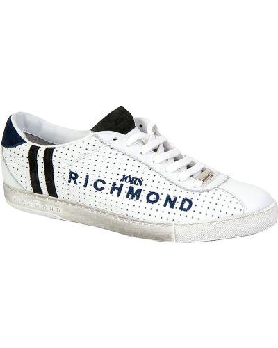 Кеды белые кожаный John Richmond