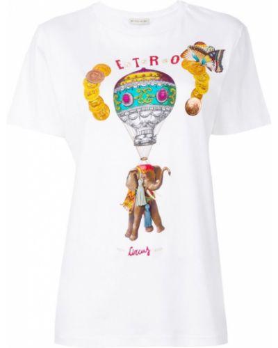 Белая футболка прямая Etro