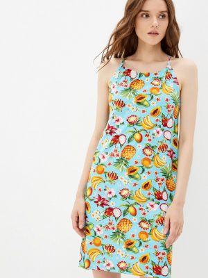 Бирюзовое платье летнее Tenerezza