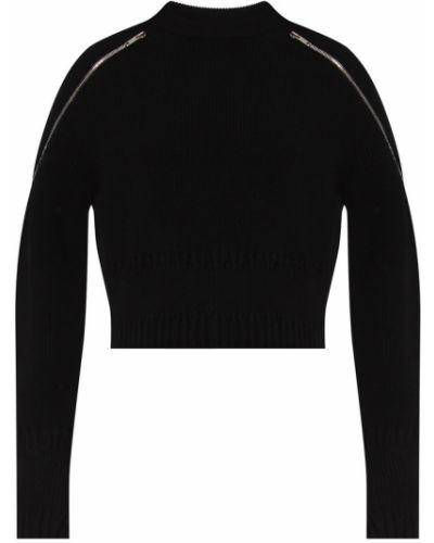 Sweter z haftem - czarny Givenchy
