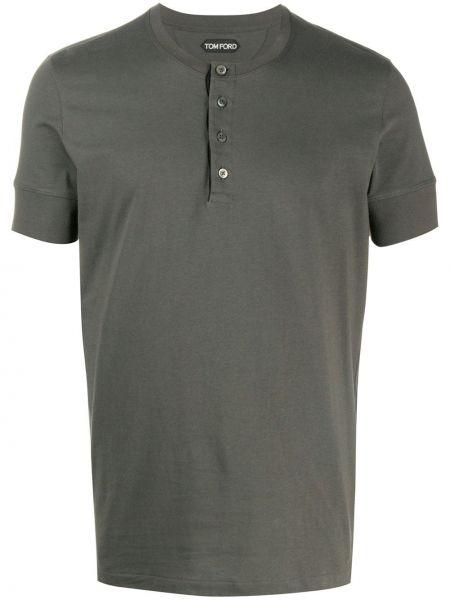Koszula krótkie z krótkim rękawem wojskowy prosto Tom Ford