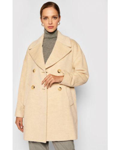 Beżowy płaszcz wełniany Pennyblack