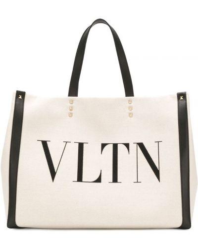 Сумка-тоут с ручками с логотипом Valentino