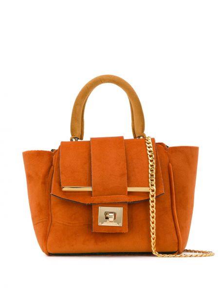 Оранжевая сумка на цепочке Alila