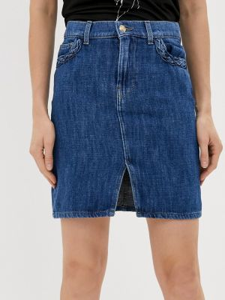Синяя джинсовая юбка Rinascimento