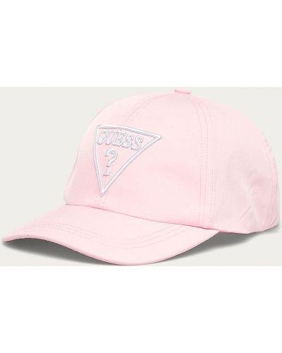 Różowy kapelusz materiałowy Guess