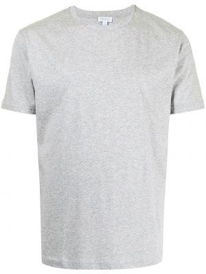 Серая футболка с круглым вырезом Sunspel