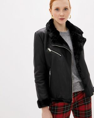 Кожаная куртка осенняя черная Jacqueline De Yong