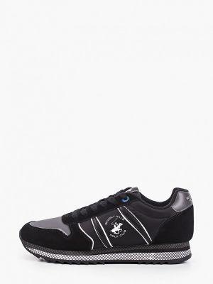 Черные кожаные низкие кроссовки Beverly Hills Polo Club