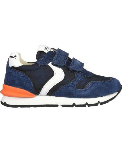 Синие кроссовки текстильные Voile Blanche
