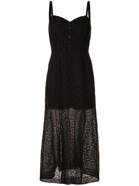 Расклешенное приталенное ажурное платье макси без рукавов Olivier Theyskens