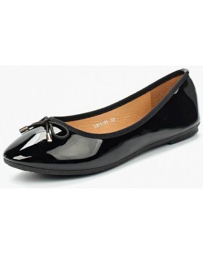 Черные кожаные балетки La Bottine Souriante