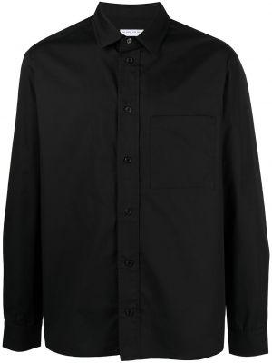 Czarna koszula bawełniana z długimi rękawami Ih Nom Uh Nit