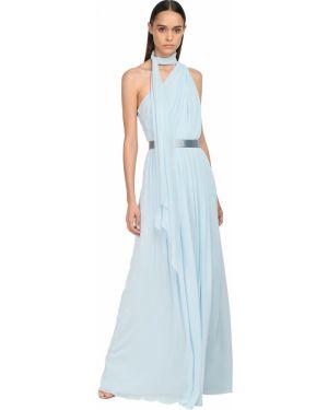 Платье с поясом на одно плечо через плечо Max Mara