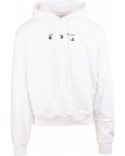 Bluza dresowa z kapturem - biała Off-white